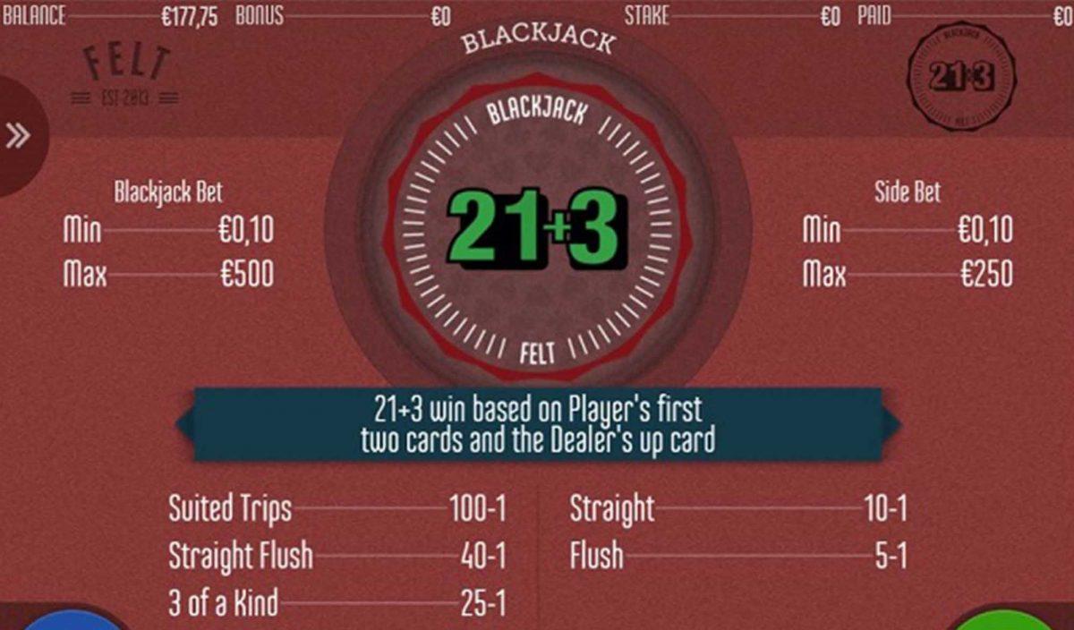 blackjack 21 3 nedir